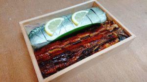 鯖と穴子の棒寿司